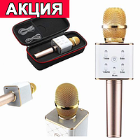 Микрофон-караоке Bluetooth Q7 GOLD