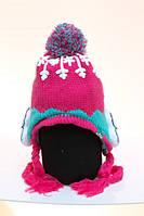 Детская зимняя вязаная шапка Tutuya для девочки 4-12 лет.