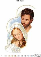 Схема для вышивания бисером - Святое семейство