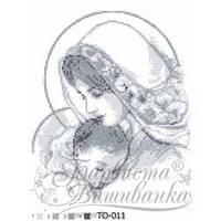 Схема для вышивания бисером - Мария с ребенком (серая)