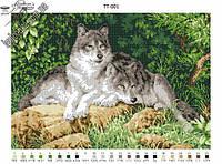 Схема для вышивания бисером - Пара волков