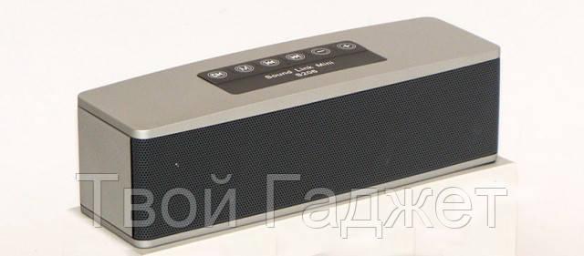 Портативная стерео-колонка с Bluetooth, USB, SD, FM-приемником и сабвуфером S206=AT-7706