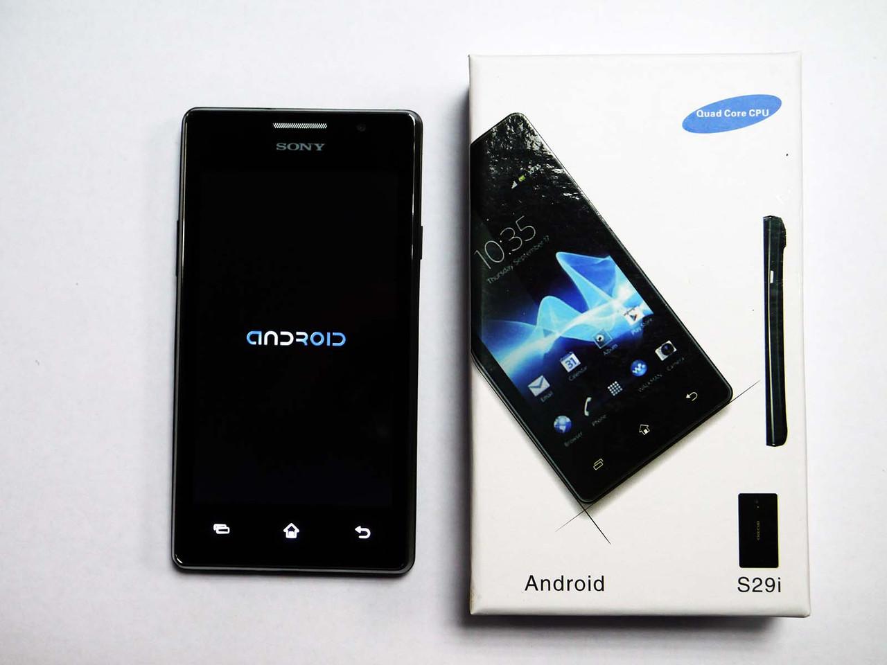 Телефон Sony S29i 2Sim+WiFi+Android 4+Чехол