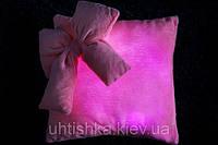 Светящаяся подушка Гламур с бантиком, фото 1