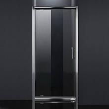 Дверь в нишу распашная 80*185, профиль хром, стекло прозрачное 5 мм
