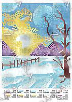 Схема для вышивания бисером - Зима