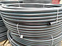 Труба полиэтиленовая  50 мм 10 атм черно синяя, фото 1