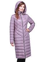 Длинное стеганое зимнее пальто с капюшоном Пэпер
