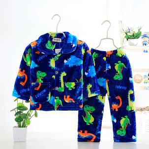 Пижама трикотажная махровая Зверушки, фото 2