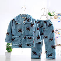 Пижама трикотажная махровая Зверушки, фото 3