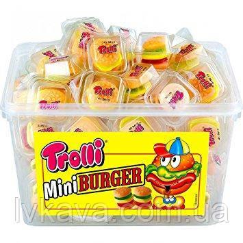 Желейные конфеты Trolli MiniBurger  , 60 шт х 10 гр