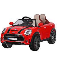 Двухместный детский электромобиль Mini Cooper M 3595 EBLR-3, свет колёс, кожа