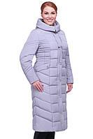 Стеганое женское длинное пальто большого размера с капюшоном Дайкири 2 без меха