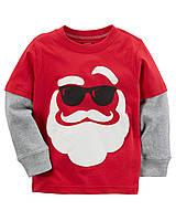 Кофта лонгслив Carters на мальчика 2-5 лет Santa