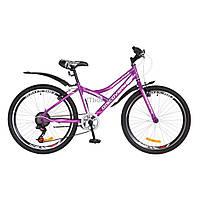 """Велосипед Discovery 24"""" FLINT 2018 14G Vbr рама-14"""" St фиолетово-белый (OPS-DIS-24-087)"""
