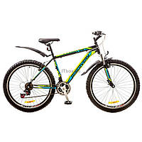 "Велосипед Discovery 26"" TREK 2018 AM 14G Vbr рама-15"" St черно-сине-зеленый (OPS-DIS-26-109)"