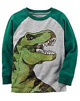 Кофта лонгслив Carters на мальчика 2-5 лет Dinosaur