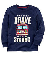 Кофта лонгслив Carters на мальчика 2-5 лет Fire Chief
