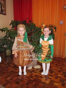 """Карнавальні костюми """"Цибулинка"""" і """"Морквинка"""". Дівчатка із с. Муроване, Львівської області.  https://helga-ulm.com.ua/p162453308-tsibulinka-luk-lukovitsa.html -  https://helga-ulm.com.ua/p162451089-karnavalnyj-kostyum-dlya.html"""