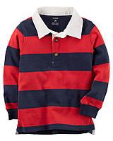 Кофта-поло Carters на мальчика 2-5 лет Rugby Polo