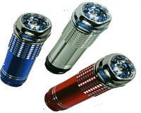 Автомобильный ионизатор (очиститель) воздуха,синий,серебристый,вес 30 г,подключается к 12 в