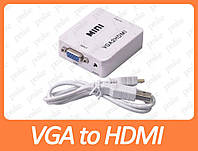 Переходник VGA to HDMI с 3.5mm Audio