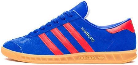 Мужские кроссовки Adidas Originals Hamburg Blue/Red, адидас , фото 2