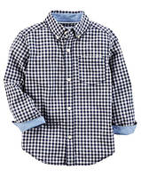 Рубашка Carters на мальчика 2-5 лет Gingham Button-Front Shirt