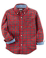 Рубашка Carters на мальчика 2-5 лет Plaid Button-Front Shirt
