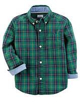 Рубашка Carters на мальчика 2-5 лет Woven Button-Front Shirt