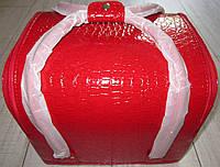Бьюти кейс для визажистов, парикмахеров и мастеров маникюра /педикюра (ярко-красный, кожа крокодила), фото 1
