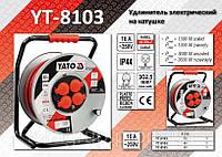 Удлинитель электрический на катушке 3х2,5мм - 30м., YATO YT-8103