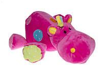 Мягкие игрушки с погремушкой бегемот (Мягкие игрушки с)