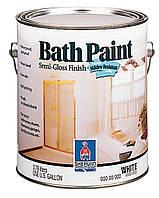 Краска SW Bath Paint Satin Finish для ванных Полуматовая Экстра-белая(3.66 л)