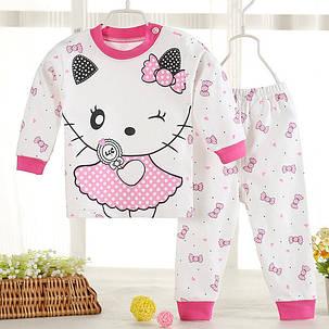 Пижама детская тонкая вязка Котики, фото 2