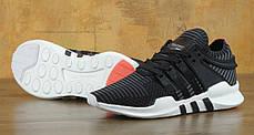 Мужские кроссовки Adidas EQT Support ADV PRIMEKNIT Core Black Turbo, фото 3