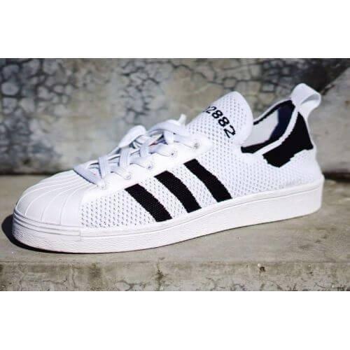 Мужские кроссовки Adidas Superstar 80s Primeknit White/Black