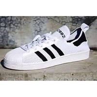 Мужские кроссовки Adidas Superstar 80s Primeknit White/Black, фото 1