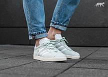 Женские кроссовки Adidas Gazelle Linen Green/White