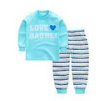 Пижама детская тонкая вязка полосатые штаны, фото 3