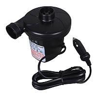 Электрический насос 12В, компрессор от прикуривателя для надувных матрасов, бассейнов, лодок, кроватей