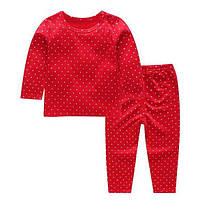 Пижама детская тонкая в горошек, фото 2