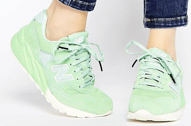 Женские кроссовки New Balance 580 Mint Green Trainers - Интернет-магазин