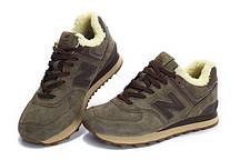 Зимние мужские кроссовки New balance 574 Winter Haki