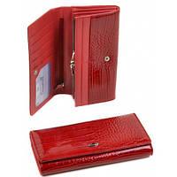 Кожаные женские кошельки 19*9 (красный)