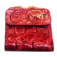 Женские кожаные портмоне 9*8 (бордо), фото 1