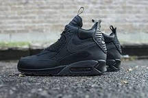 Зимние мужские кроссовки Nike Air Max 90 SneakerBoot Winter Triple Black