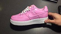Зимние женские кроссовки Nike Air Force 1 Low Pink