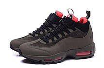 Зимние мужские кроссовки Nike Air Max 95 Sneakerboot Dark Brown/Red