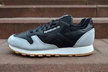 Зимние мужские кроссовки Reebok Classic Black/Cream